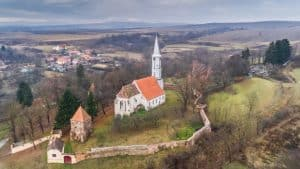 Altana fortified church in Transylvania, Romania