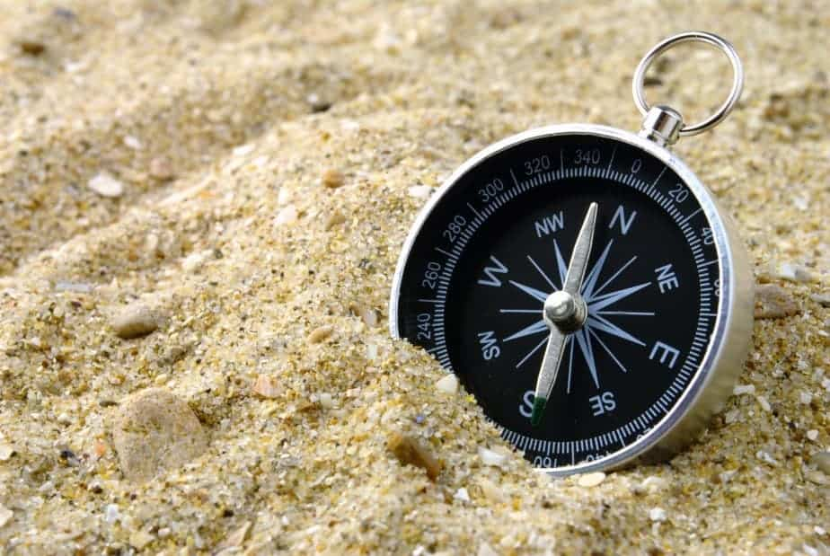 Compass and sand