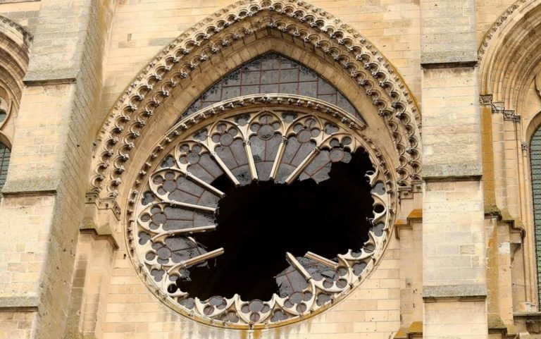 destroyed cathedral